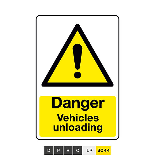 Danger, Vehicles unloading
