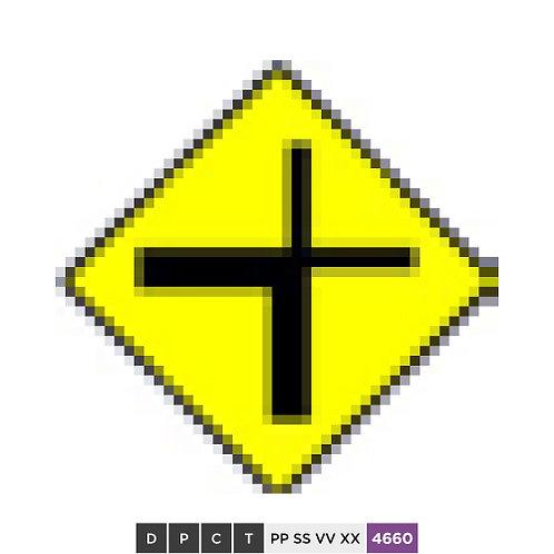 Cross road junction