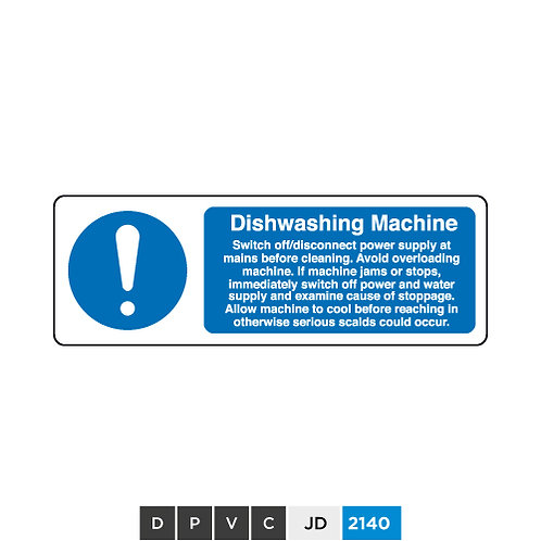 Dishwashing Machine notice