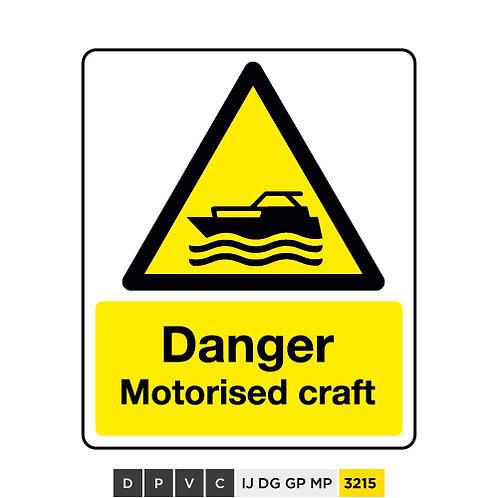 Danger, Motorised craft