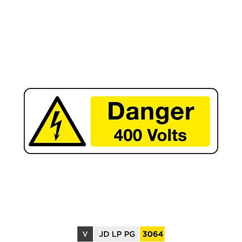 Danger, 400 Volts