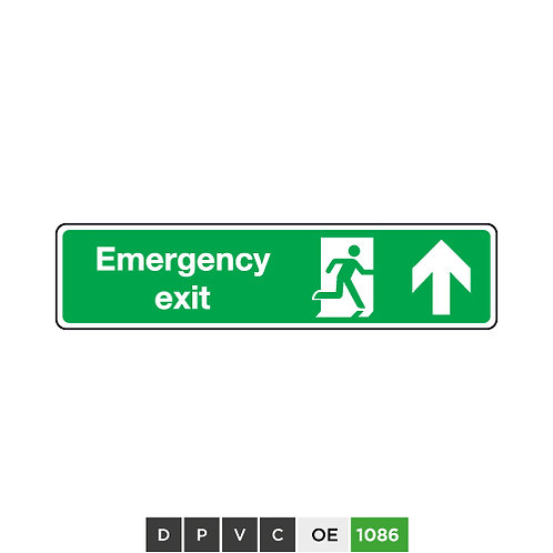 Emergency Exit (arrow up)