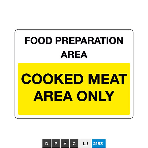 Food preparation area, cooked meat area only
