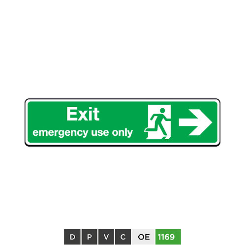 Exit Emergency Use Only (arrow right)