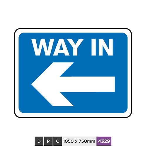 WAY IN (left arrow)