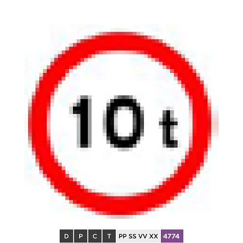 No vehicles exceeding 10 tons