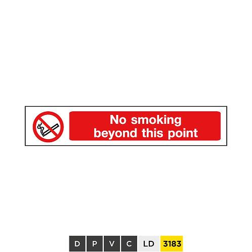 No smoking beyond this pont