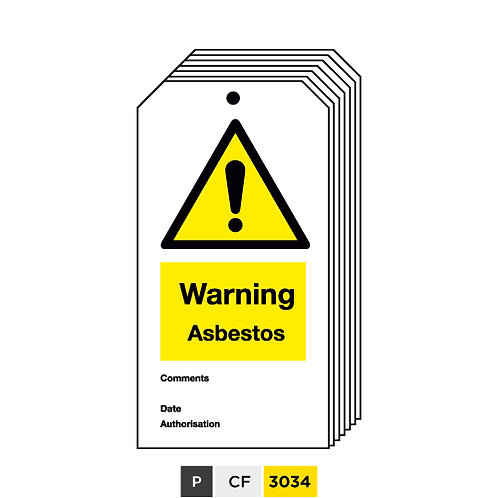 Warning, Asbestos