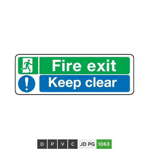 Fire exit, Keep clear