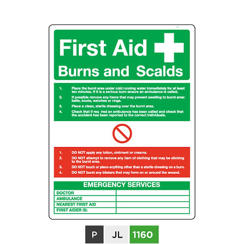 First Aid Burns and Scalds
