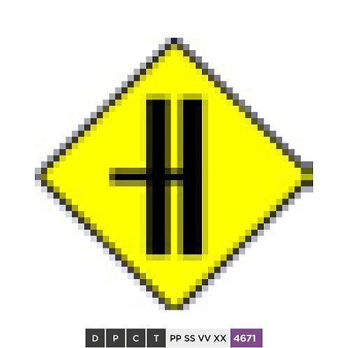 Side Road on Dual C'way - Left (With CR Break)