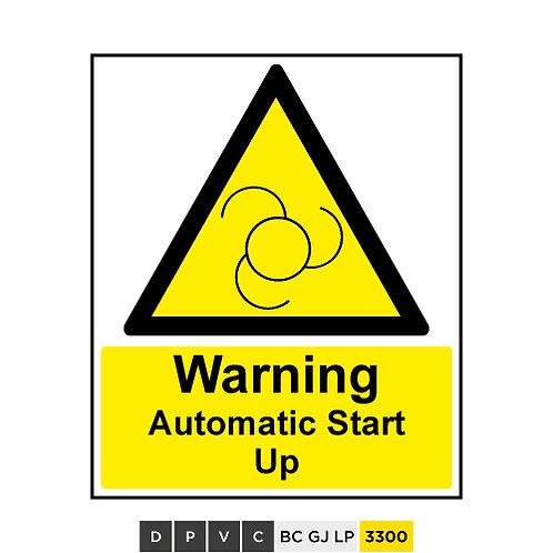 Warning, Automatic Start Up