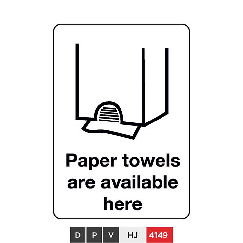 Paper towels are available here