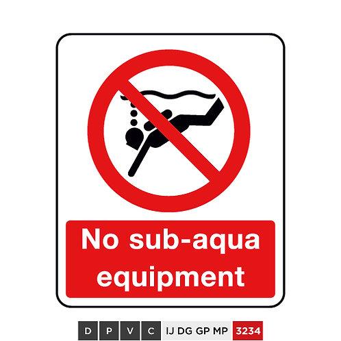 No sub-aqua equipment