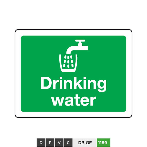 Drinking water sign with symbol