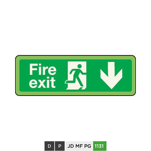 Fire exit (arrow down)