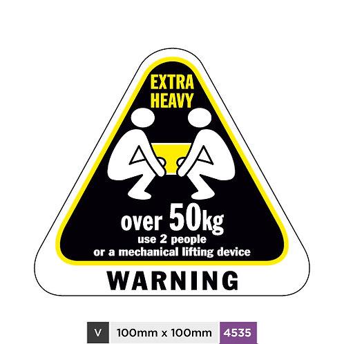 Heavy warning over 50kg