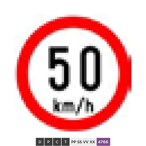 Speed limit 50 km/h