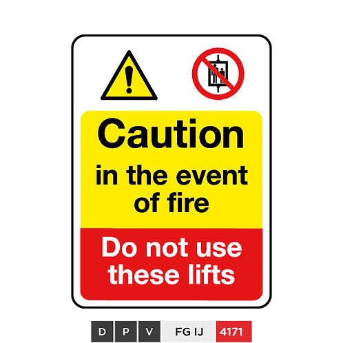 Caution in the event of fire, Do not use these lifts