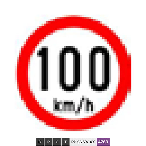 Speed limit 100 km/h