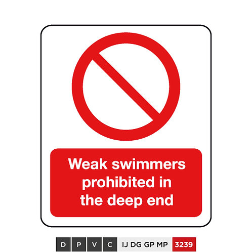 Weak swimmers prohibited in the deep end