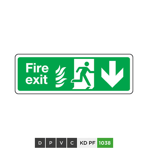 Fire exit (arrow down)