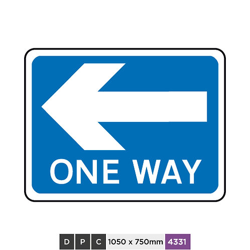 ONE WAY (left arrow)
