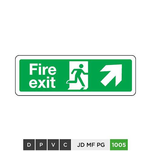 Fire exit (arrow top-right)