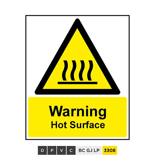 Warning, Hot Surface