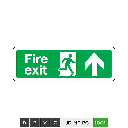 Fire exit  (arrow up)