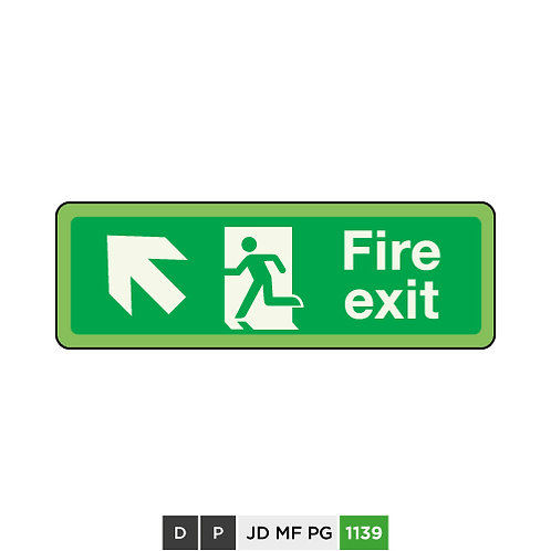 Fire exit (arrow top-left)