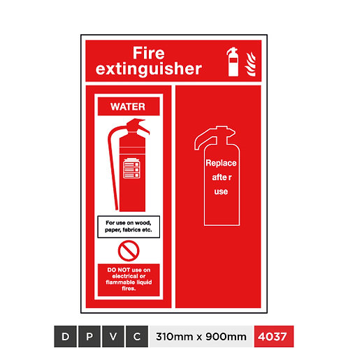 Fire extinguisher, Water, Replace after use