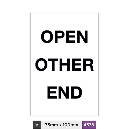 Open other end