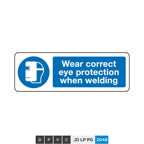 Wear correct eye protection when welding