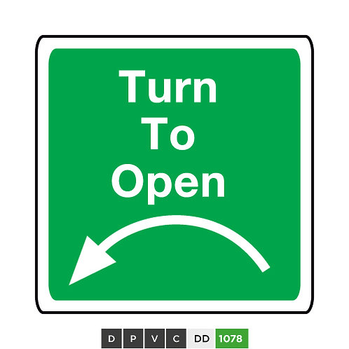 Turn to Open (anti-clockwise)