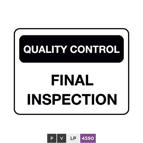 Quality control, Final inspection