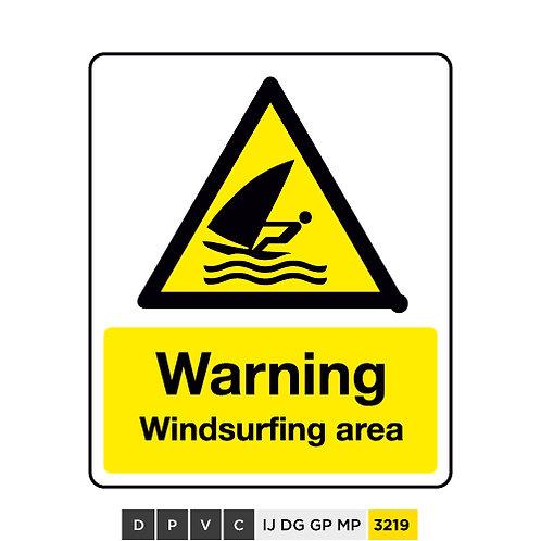 Warning, Windsurfing area