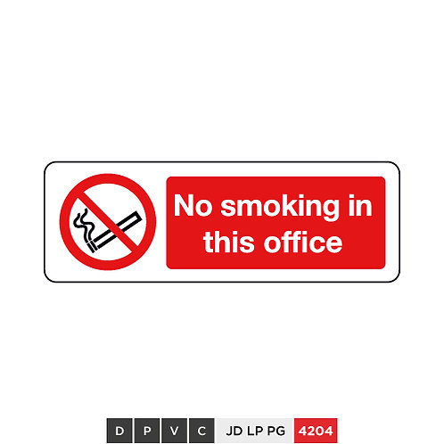 No smoking in this office