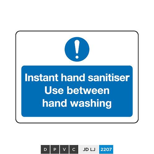 Instant hand sanitiser, Use between hand washing