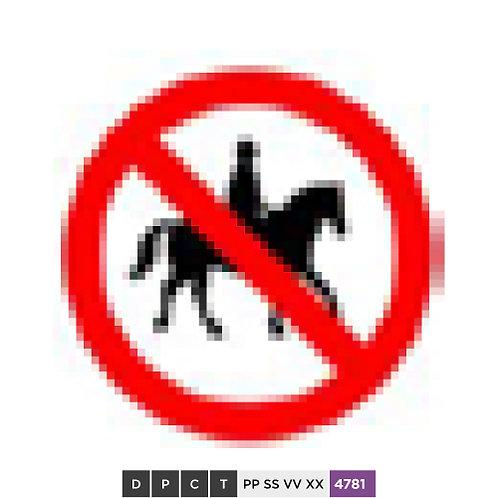 No Ridden or Accompanied Horses
