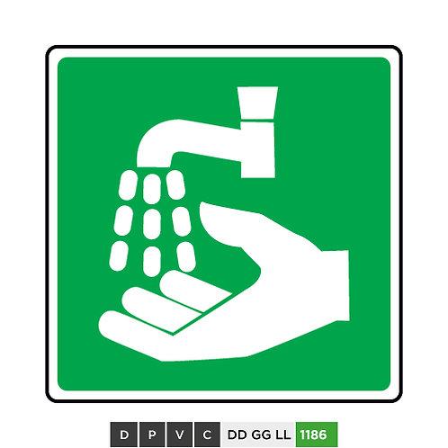 Emergency hand wash symbol