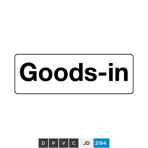 Goods-in