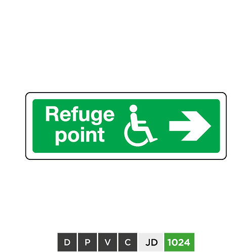 Refuge point (arrow right)
