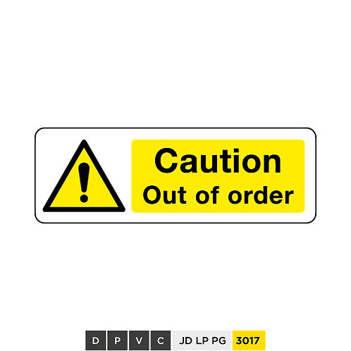 Caution, Out of order