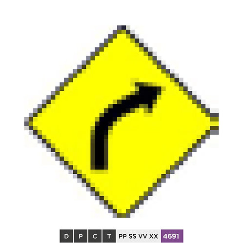 The road ahead curves to the right