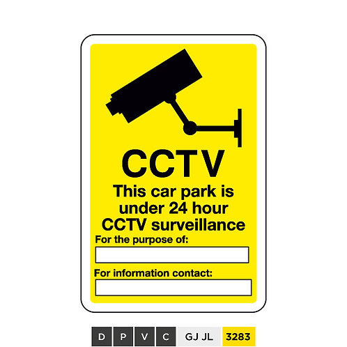 CCTV, This car park is under 24hr CCTV surveillance