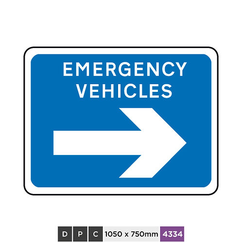 EMERGENCY VEHICLES (right arrow)