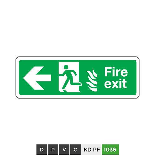 Fire exit (arrow left)