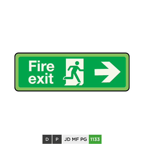 Fire exit (arrow right)