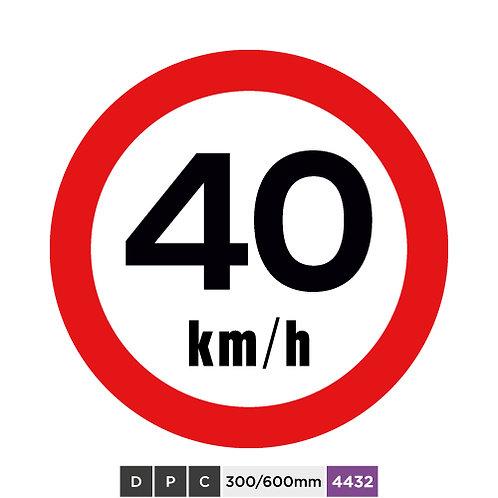 Speed limit 40 km/h